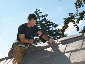 """We installed the cap shingles with 2"""" galvanized roofing nails. Hand nailing is fun sometimes."""