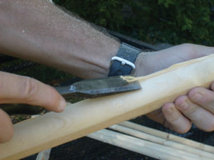 A sharp wood chisel can be used to remove any waste.