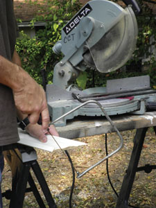 Complete the coped joint with a coping saw