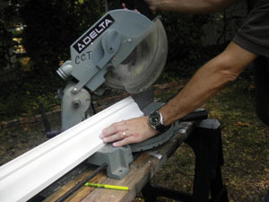 Cut with a miter saw