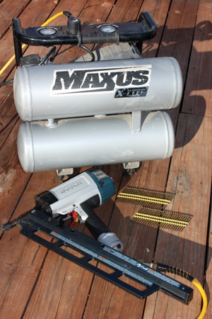 This Maxus dual-tank compressor has served as the EHT staff's primary setup for the last couple of years, packing plenty of punch to run a framing nailer from dawn to dusk.