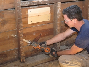 Rot  Cut Sheathing Nails Replace a Rotten Sill Plate