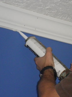 Seal the joints with paintable caulk