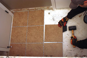 The SnapStone Floating Tile Floor Requires No Mortar To Adhere It In