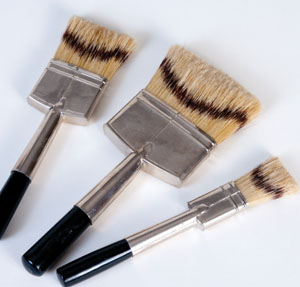Specialty brushes with natural bristles are intended for the finest finishes.