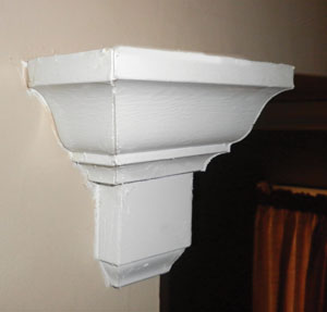 To terminate a run of moulding