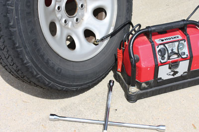 how to fix a flat tire with a plug