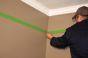Mask lines with painters tape Paint a Decorative Border