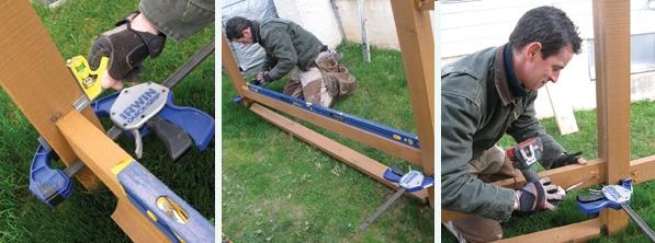 Setting fence rails