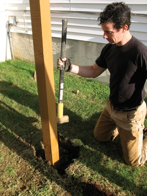 Tamp the air out of the backfill traps