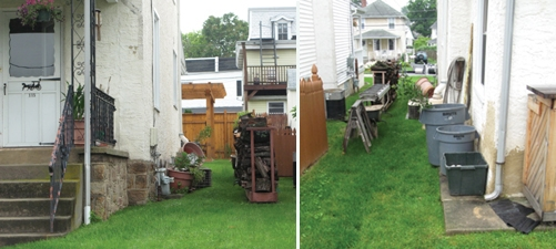 The neglected side-yard