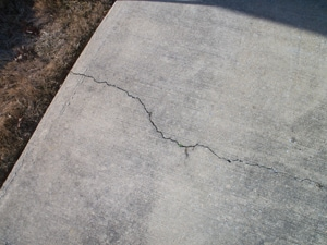 Conceal minor cracks in concrete