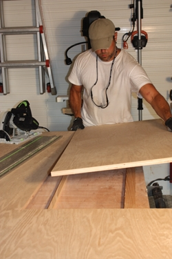 Cutting plywood panels
