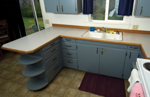 1950 Kitchen Cabinets reconfiguring kitchen cabinets to install a dishwasher - extreme