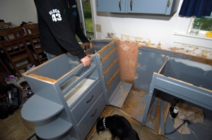 Reconfiguring Kitchen Cabinets To Install A Dishwasher Extreme How To