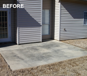 Painting techniques change the appearance of existing concrete