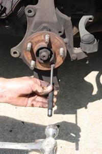 Removing the broken bolt