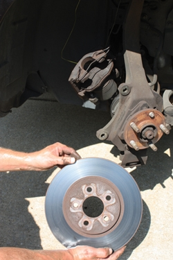 Removing the rotar Replace a Broken Lug Nut Stud