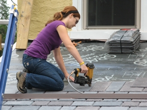 Installing a synthetic slate roof extreme how to for Roof diverter flashing