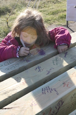 The playgrounds memorial wall