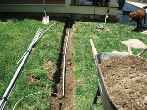 Electrical supply line for the pump was installed in Pvc Pipe