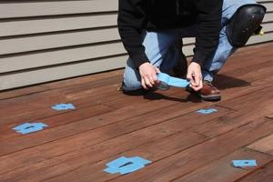 Making repairs with wood filler