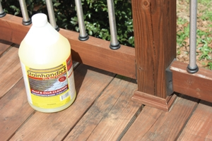Surface contaminants should be cleaned off before staining.