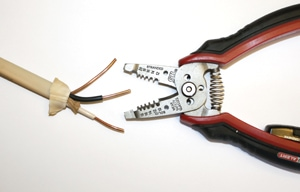 Wire stripping pliers