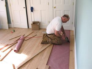 Installing plank boards
