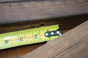 Measure the diameter of the hole Repair Carpenter Bee Damage