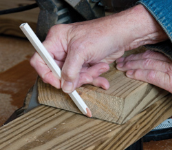 Use the first cut board as a pattern