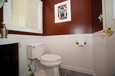 Elegant Installing Wainscot In A Powder Bath