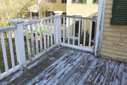 This old, rotted deck and rail system required extensive demolition.