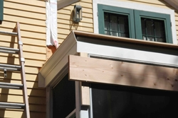 New PVC fascia and crown molding were installed for a decorative enhancement.