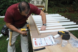 Next came the rail and baluster assembly.