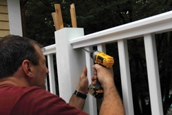 The fasteners are concealed within the rails for a finished look.