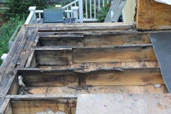 The joists had rotted beneath the deck.