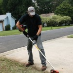 Edging a Lawn for Clean Cut