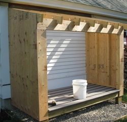 "We secured wall and roof sheathing with 8-penny ring-shank nails every 10"" in the field and every 6"" at seams and edges."