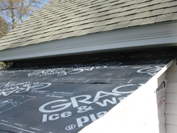 The roof sheathing was protected by Ice & Water Shield.