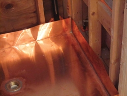 A local sheet-metal company fabricates the copper pan.