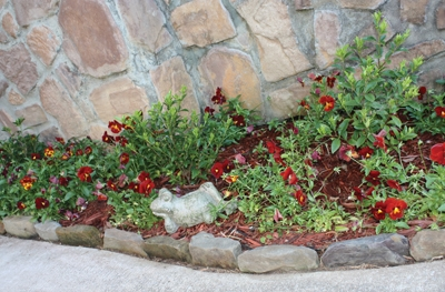 Natural stone landscape edging extreme how to - Natural stone garden edging ...