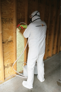 DIY kits for applying SPF insulation are available for renovations and room additions.