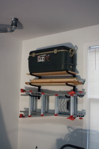 The 450 Rack is a multipurpose wall accessory that can hold heavy items-up to 150 pounds on each of three tiers for a total of 450 pounds.