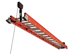 The new Racor Ladder Lift is an easy way to store any ladder overhead and free up garage space.