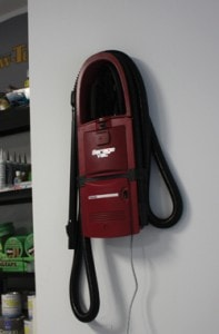 The wall-mounted GarageVac saves floor space and keeps the vacuum tools at your fingertips. A simple fastening template is included with the instruction manual to help mount it to the wall.