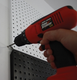 Drywall anchors require pre-drilling.