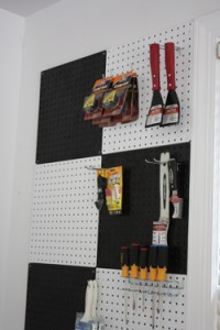 An almost endless variety of hooks, hangers and tool holders are available for pegboards.