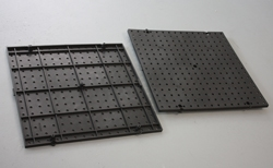 The Racor Pegboard features studs on the rear of the panel for mounting directly to the wall while maintaining the necessary standoff.