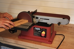 """The Skil 3376 benchtop unit is a versatile combination of a stationary sanding disc and 4x36"""" belt. It's a handy tool for detail work such as sanding small end surfaces with the disc."""